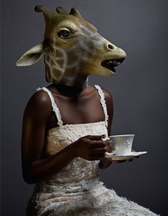 Animal Portraits: Ricardo Rivera Morphing Issues: How difficult it must be to sip the tea ;)