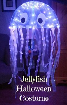 Budget DIY Jellyfish costume for kids of any size or gender.