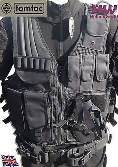 AIRSOFT TOMTAC BLACK CORDURA SWAT POLICE STYLE ASSAULT VEST CQB PISTOL RIG @ HELMET WORLD  //Price: $ & FREE Shipping //     #sports #sport #active #fit #football #soccer #basketball #ball #gametime   #fun #game #games #crowd #fans #play #playing #player #field #green #grass #score   #goal #action #kick #throw #pass #win #winning