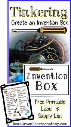 Create an Invention Box w/ Free Printables