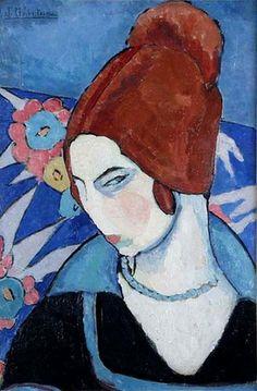 Jeanne Hébuterne (French artist) 1898 - 1920, Autoportrait (Self-portrait), ca. 1916.jpg