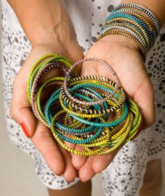 Made with Love project, bracelets that support women's and children's charities in Africa and Brazil.  Shop for a cause!