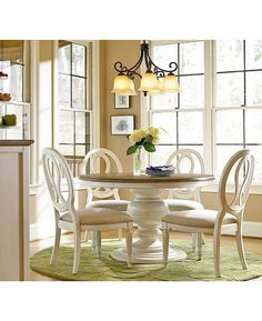Circular Dining Room Tables Best Of Sag Harbor Round Dining Furniture Collection Dining Room Furniture, Dining Room Table, Dining Rooms, Chalk Paint Dining Table, Furniture Sets, Console Tables, Painted Furniture, Round Dining Room Sets, Round Kitchen Tables