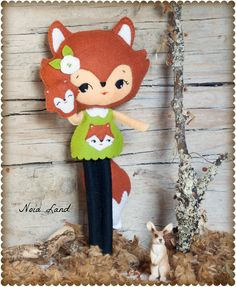 Fox girl with puppet