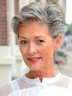 25 Trendy, Short Haircuts For Women Over 50 Mom Hairstyles, Hairstyles Over 50, Trendy Hairstyles, Grey Hair Styles For Women, Short Hair Cuts For Women, Short Hair Styles, Grey Hair Over 50, Hair Cuts For Over 50, Gray Hair