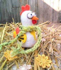 Новый год 2017 ручной работы. Ярмарка Мастеров - ручная работа. Купить Петушок. Handmade. Белый, сувенир, из шерсти, новозеландский кардочёс