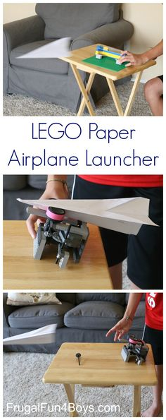 Two Ways to Build a LEGO Paper Airplane Launcher - Fantastic STEM fun and learning!