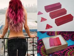 Berry Pink Hair Chalk Hair Tint Hair Stain Ombre by Cloud9Jewels, $9.00