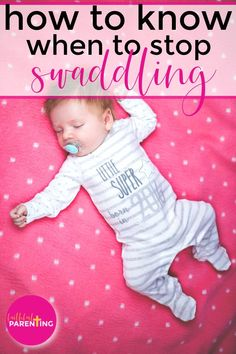 How to know when to stop swaddling baby! Swaddling baby is a right of passage for moms with newborns. There are benefits to swaddling, but how long should you do it? What will happen to sleep? Click now to get all your swaddling baby questions answered here! #swaddlingbaby #newborn #newmom #babysleep Get Baby, Baby Sleep, Gentle Sleep Training, Teaching Babies, Baby Arrival, Baby Development, Baby Warmer, Newborn Care, Baby Swaddle