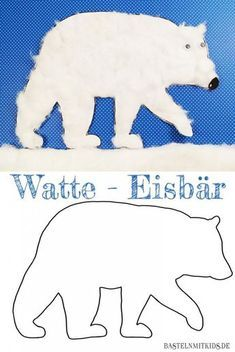 Watte Eisbär schnell und einfach basteln. Auch für Kleinkinder zum Nachbasteln. http://bastelnmitkids.de/eisbaer-basteln-mit-kindern-und-kleinkindern/