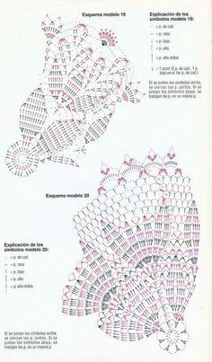 70 Ideas Crochet Doilies Centerpiece Beautiful For 2019 Crochet Doily Diagram, Crochet Doily Patterns, Crochet Chart, Thread Crochet, Crochet Motif, Crochet Stitches, Crochet Home, Irish Crochet, Diy Crochet