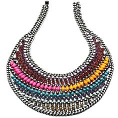 DANNIJO Kixxy Necklaces ($795) ❤ liked on Polyvore