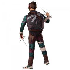 Disfraces de las Tortugas Ninja en su vuelta al cine más real - Disfraz de Raphael por detrás. Caparazón