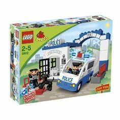 LEGO DUPLO® LEGOVille Police Station 5602 by LEGO. $120.99. 28 elements. LEGO® DUPLO® pieces are colorful, safe and sturdy for younger hands. Police station, police car and a dog included. 2 LEGO® DUPLO®  figures included. The siren and light of the police car really works. From the Manufacturer                Protect LEGO® Ville with the Police Station! Can you help the policeman catch the robber? Speed to the scene of the crime in the police car with worki...