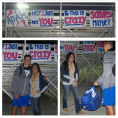 Asking someone to Sadies: Overused song lyrics might just do it for ya! (For the record, I asked him last-minute and wish it would have been more crea… - Hairstyles For All High School Dance, School Dances, Dance Proposal, Proposal Ideas, Sadies Dance, Sadie Hawkins Dance, Asking To Prom, Hoco Proposals, Valentine Poster