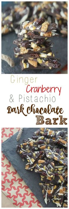Make my healthy & delicious Ginger, Cranberry & Pistachio Dark Chocolate Bark (this is the perfect edible gift for any holiday/special occasion)!