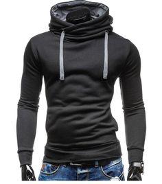 2017 Hoodies Men Sudaderas Hombre Hip Hop Mens Brand Solid Color Turtleneck Pullover  Hoodie Sweatshirt  Slim Fit Men Hoody -in Hoodies & Sweatshirts from Men's Clothing & Accessories on Aliexpress.com | Alibaba Group