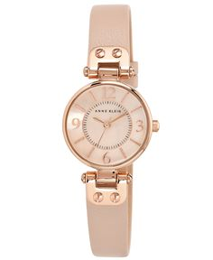 Anne Klein Women's Blush Leather Strap Watch 26mm 10-9442 RGLP - Watches - Jewelry & Watches - Macy's