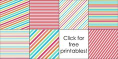 Free Printables + How to Make a Diagonal Striped Background in PowerPoint by It's Great To Be Home, via Flickr