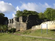Ruins of the fortress at Mauritius.