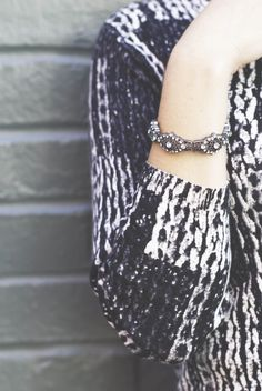 Liz Claiborne crystal silver tone stretch bracelet. Great accent to any fall outfit