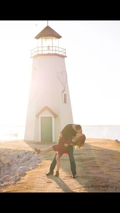 Lighthouse Engagement Photography