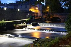 The River Tavy at night.