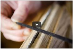 In the above video I filmed hand saw maker Tom Calisto sharing a tutorial on how to sharpen new and antique hand saws for woodworking. Sharpening hand saw teeth is a skill that takes time to develop, but a suitable hand saw sharpening job can be done after a couple tries, so don't feel