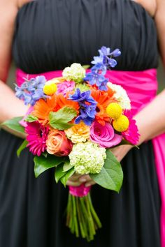 Bright and Cheery Spring Wedding Bouquet| Photo by: http://candacejefferyphotography.com/blog/