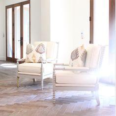 Owens + Davis - Blog Spool chairs painted BM San Antonio Gray
