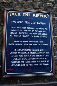 Sign outside the White Hart Pub in Whitechapel