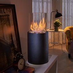 DanyaB Sophie Bio-Ethanol Tabletop Fireplace Size: H x W x 1 Tabletop Fireplaces, Ethanol Fireplace, Fireplace Ideas, Tabletop Fire Bowl, Large Fire Pit, Bedroom Fireplace, Library Fireplace, Fireplace Furniture, Patio Table