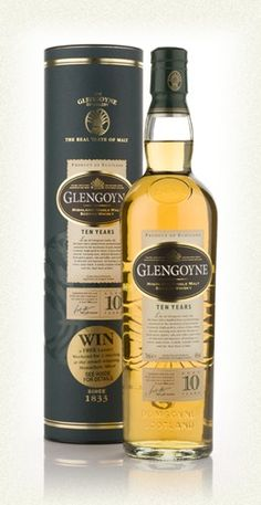 Glengoyne 10 Year Old --Highland Region-- Distilled from air-dried barley without peat smoke. Delicate flavors of fresh green apples, oak and toffee, with a hint of almonds and licorice. A sweet, malty finish. Come sample this whisky at Riverwood Winery.