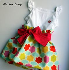 Such a cute Bubble Ruffle Dress tutorial. Tons of other sewing tutorials too!