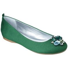 This color is hot. Target Mobile Site - Women's Mossimo® Valma Jeweled Flats - Emerald