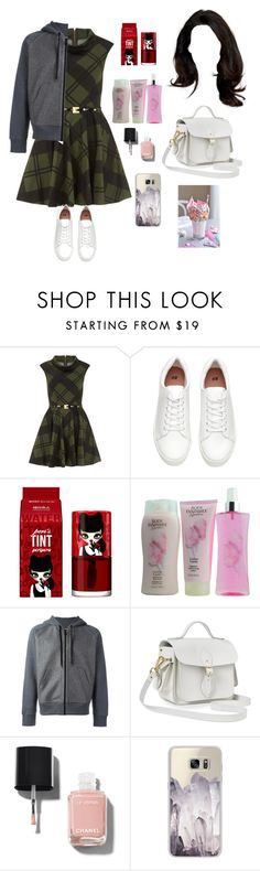 """I want you close, and close ain't close enough."" by yuliana07 ❤ liked on Polyvore featuring Dorothy Perkins, peripera, AMI, The Cambridge Satchel Company, Chanel and Casetify"