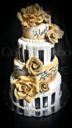 """The Poet & The Pianist"" Wedding Cake!"