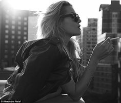 Rock chick: Cheyenne Tozzi is the epitome of rock chick in her latest New York photo shoot