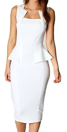 made2envy Bodycon Midi Peplum Dress with Square Neckline (S, White) made2envy http://smile.amazon.com/dp/B00GNO9L16/ref=cm_sw_r_pi_dp_JkT8ub0ZW78WK