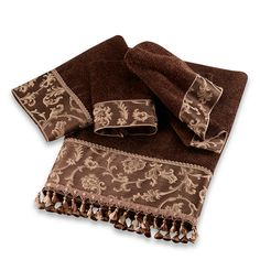 AVANTI Damask Fringe Washcloth Mocha $8 BEST PRICE GUARANTEE FREE WORLD SHIPPING (LOCAL ORDER PICK UP IS ALSO AVAILABLE & GET 20% OFF)