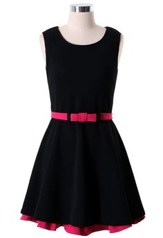 Add a little color to the typical black dress.