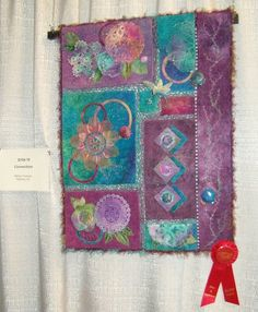 Abstract textile paintings by antonella olivieri on etsy for The craft room albuquerque