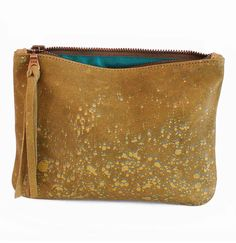 Leather Statement Clutch - Clutch beige ethno Folk by VIDA VIDA tplppR