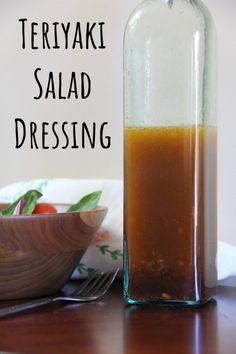 Teriyaki Salad Dressing - Recipes to Cook - Salat Teriyaki Salad Dressing Recipe, Vinaigrette Salad Dressing, Salad Dressing Recipes, Salad Recipes, Healthy Recipes, Broccoli Salad Bacon, Bacon Salad, Superfood Salad, Quinoa Salad