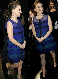 A very pregnant Natalie Portman walks hand in hand with boyfriend...