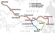 Russia: Trans-Siberian Express MAP #train #travel