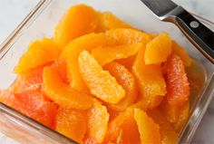 #3. PEEL, SEGMENT, AND FREEZE them. Frozen orange slices taste wonderful partially thawed in fruit salad with yogurt or slipped under chicken skin before baking. - What To Do When Life Gives You {Lots Of} Oranges!