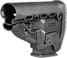 Adjustable black AR-15 buttstock
