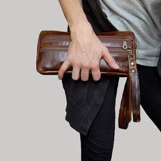 6 pocket Vigga wristlet clutch in black by valhallabrooklyn