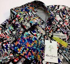 Robert Graham Men Metalic Oil-Paint Artwork Geometric Patterned Sport Shirts | Clothing, Shoes & Accessories, Men's Clothing, Casual Shirts | eBay!